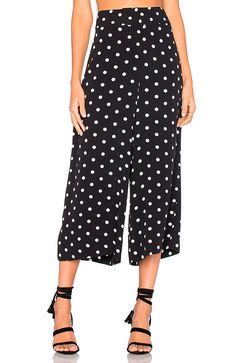 Black high waisted polka dot cropped wide leg pants for women stylish casual palazzo pants ladies OL formal culotte trousers Petite Fashion, Pop Fashion, Pants For Women, Clothes For Women, Revolve Clothing, Wide Leg Pants, Style Guides, Casual, Dresses For Work