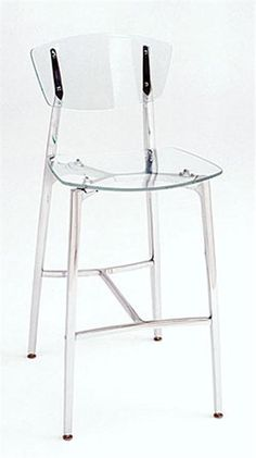 Recurve Stool All Acrylic From Girari Furniture Gl Counter Stools