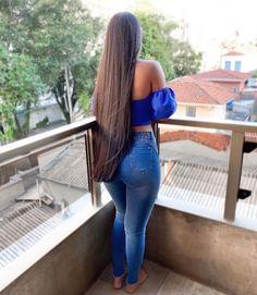 Glossy Hair, Long Hair Styles, Crop Tops, Instagram, Pink, Women, 1, Videos, Photos