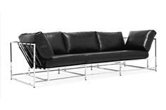 The Parallel #Sofa : designed and produced entirely in Los Angeles #seat #design #leather #fashion #black #calfskin