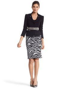 Need the skirt!!  WHBM