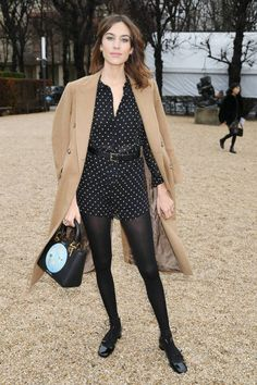 Alexa Chung attends the Christian Dior Haute Couture Spring Summer 2018 show as part of Paris Fashion Week on January 22 2018 in Paris France Dior Haute Couture, Alexa Chung Street Style, Christian Dior, Paris Fashion Week, Estilo Blogger, London Girls, Spring Summer, Winter Chic, Celebrity Look