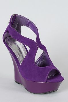 Purple shoes I actually could walk in...love the cutouts!