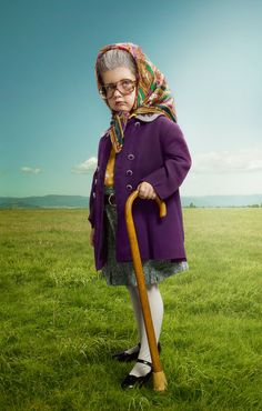 Image result for old lady costume for girl