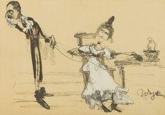 Witold Wojtkiewicz - Jadwiga Mrozowska and Andrzej Milewski in Sluby Panienskie, 1904