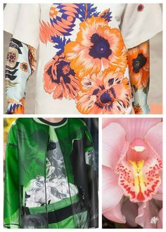 SS 2016 Women's Key Prints, big garden blooms, detail 1 via WeConnectFashion
