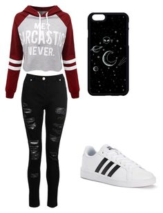 """""""Untitled #71"""" by spikeytwister on Polyvore featuring WithChic, Dorothy Perkins and adidas"""