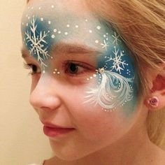 2014 Snowflake Halloween Frozen face paint for girls - forehead