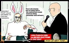 POLITICAL CARTOONS FOR DONALD TRUMP: John Podesta Hacked elections Political Cartoon
