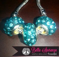 Bella Speranza Bling Crystal Beads on a Silver Bracelet....Beads ONLY $6.95 ea.