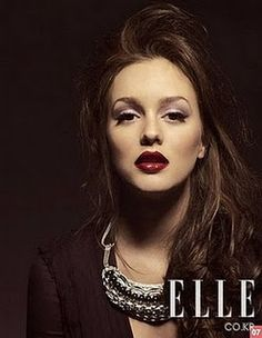 Leighton Meester with red lips