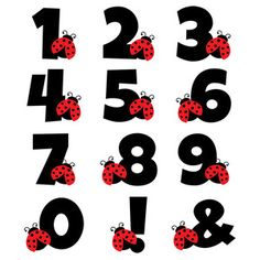 I think I'm in love with this design from the Silhouette Design Store! Baby Ladybug, Ladybug Party, Baby Scrapbook, Scrapbook Paper, Scrapbooking, Bolo Miraculous Ladybug, Alphabet, Bird Theme, Silhouette Design