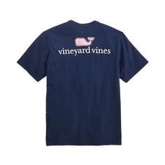 vineyard vines Logo Graphic T-Shirt ($38) ❤ liked on Polyvore featuring tops, t-shirts, vineyard vines tee, vineyard vines t shirt, blue t shirt, blue top and graphic print t shirts