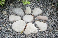Rocks in the Garden. Maybe pattern like this for enchanted front garden area and the gravel path in. Rocks in the Garden. Maybe pattern like this for enchanted front garden area and the gravel path in. Home Landscaping, Landscaping With Rocks, Front Yard Landscaping, River Rock Landscaping, Landscaping Contractors, Landscaping Software, Dry River, Gravel Path, Gravel Garden