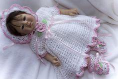 CC63-Springtime Dress, Bonnet & Booties 0-6 months Pattern