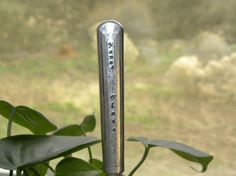 Garden pick silver plated knife NANAS by WhisperingMetalworks, $5.00