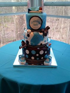 Turquoise & Brown baby Shower Baby Shower Party Ideas | Photo 7 of 39 | Catch My Party
