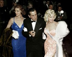 Lauren Bacall, Humphrey Bogart and Marilyn Monroe at the premiere of How to Marry a Millionaire 1953. - BackintheUSA - Google+