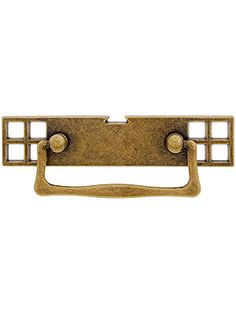 "Mackintosh Bail Pull with Pierced Back plate - 2 1/2"" Center-to-Center 