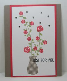 Personally Yours : Stampin' Up! Floral Wings: Flowers in a Vase