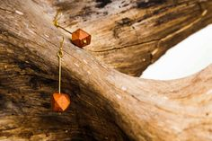 Saba brass and wood earrings