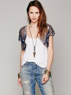 Free People Beaded Bolero at Free People Clothing Boutique