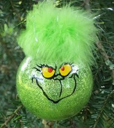 Simple Tutorial For Making Grinch Ornaments More