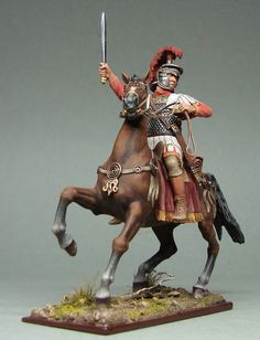 Roman soldier on horseback.