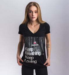 Keep Breathing/Keep Loving Tee ($27.99)
