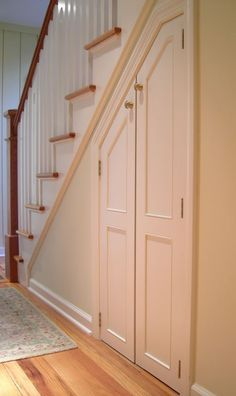 finished basements under the stairs storage - Google Search
