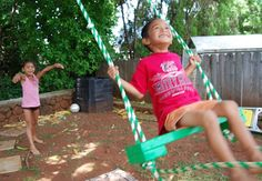 DIY Tree Swing For Two In The Backyard | Kidsomania