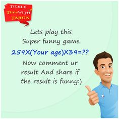 See the magic.  Comment your result & Share if the result is funny.
