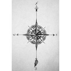 Bildergebnis für tattoo kompass
