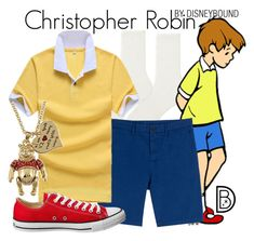 """""""Christopher Robin"""" by leslieakay ❤ liked on Polyvore featuring Uniqlo, Michael Kors, Converse, Disney, men's fashion, menswear, disney and disneybound"""