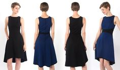 Reversible Royal Blue/Black Dress