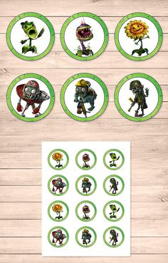 Plants Vs Zombies Garden Warfare Cupcake Toppers