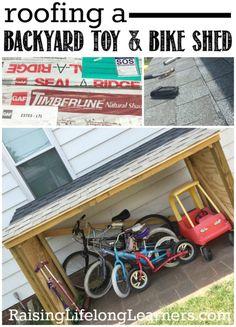 Ideas Bike Storage Shed Outdoor Toys Bike Storage Porch, Outside Bike Storage, Outdoor Bike Storage, Garage Storage, Backyard Toys For Kids, Backyard Games, Samba, Bike Wall, Diy Outdoor Toys