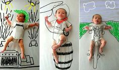 USE YOUR IMAGINATION &Edit your kids photographs simply using PAINT....