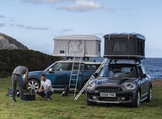 I don't like mini's but this is pretty neat. autohome designs a roof tent for the MINI countryman