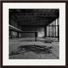 Chernobyl Print, Pripyat Print, Ukraine Print, Demolition, Abandoned, Derelict, Creepy, Broken Glass, Black And White, Photography, Wall Art by AmadeusLong on Etsy