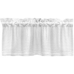 Grand Luxe Payton Tailored Window Valance ($37) ❤ liked on Polyvore featuring home, home decor, window treatments, curtains, white, lattice curtains, rod pocket valance, cotton window curtains, white window valance and window drapery