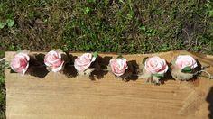 Garland, Wedding GARLANDE decorations, crepe paper, paper flowers, ivory flowers, white flowers, weddingTABLEdecorations, flax flowers, line