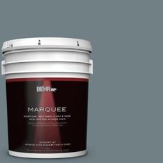 BEHR MARQUEE 5-gal. #BXC-48 Courtyard Blue Flat Exterior Paint 445405 at The Home Depot - Mobile