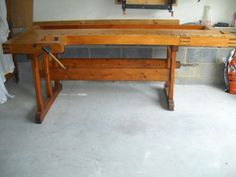 Antique-Maple-Workbench-Two-Vises-Work-Bench