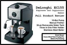 DeLonghi EC155 Espresso and Cappuccino Maker Review
