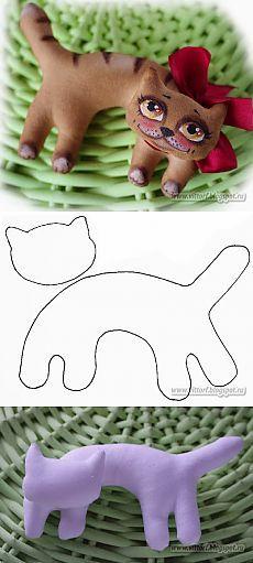 Кофейные сказки: пряничный котик на елку+ выкройка