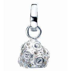 Virtue Sterling Silver Crystal Meteor Drop Charm £25