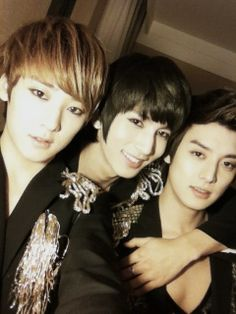 Kevin, Kiseop, & Eli of U-Kiss... Korea and Japan are lands of shameless eye candy...
