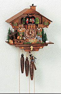 Chalet-Kuckucksuhren Kuckucksuhr 1-Tag-Uhrwerk Chalet-Stil 28cm von Anton Schneider