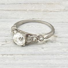 Vintage Diamond Engagement Ring   Erstwhile Jewelry Co.